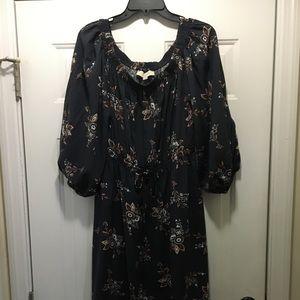 Dress. Off the shoulder. Loft. Drawstring. Size L.